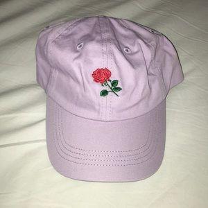Lavender rose hat